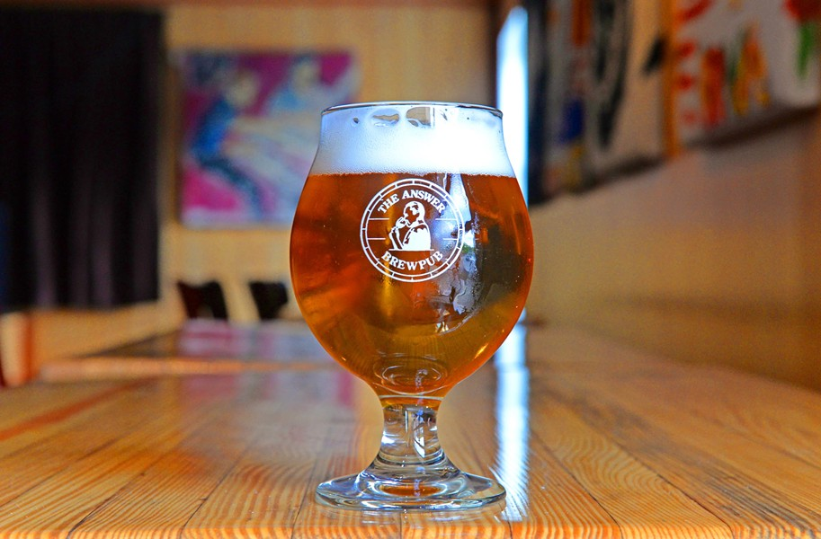 The Answer Brewpub's first release in March was Petty Larceny, a single hop session IPA. - SCOTT ELMQUIST