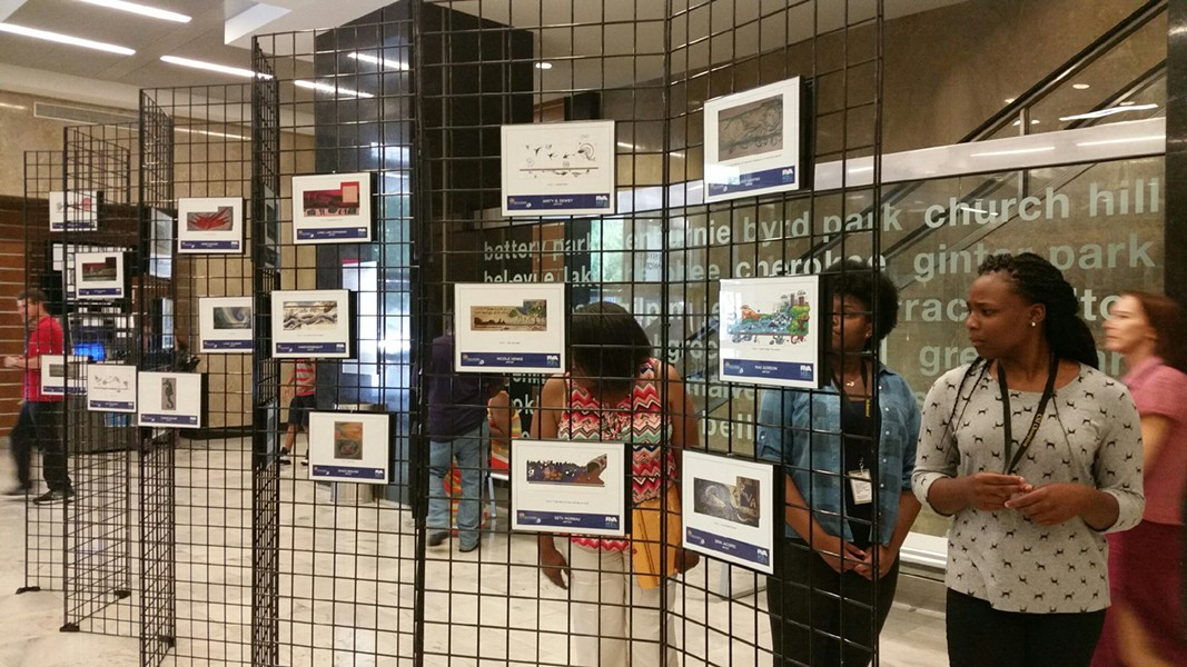 All entries of the Storm Drain Art Project currently are on display at Richmond City Hall, on the Marshall Street side between Room 102 and 100.