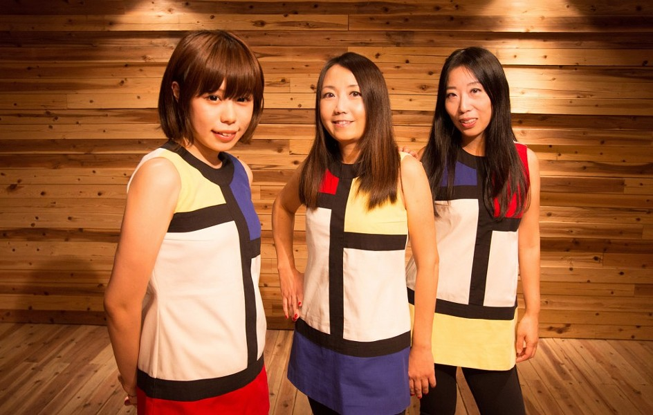 """Drummer Risa, guitarist Naoki and her bassist sister, Atsuko are Shonen Knife -- which translates to """"Boy Knife"""" in Japanese."""