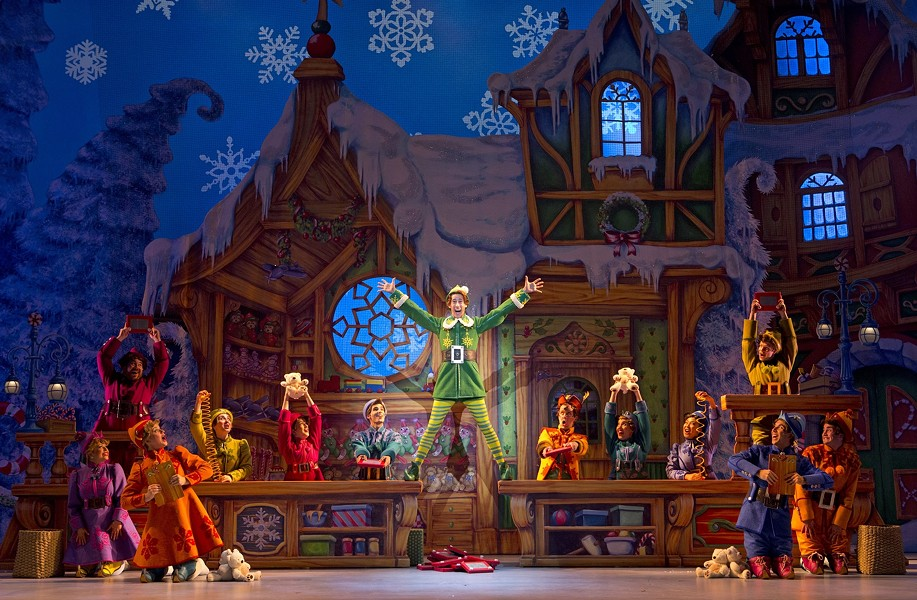"""Elf, The Musical"" runs this weekend at Altria Theatre with matinee performances on Saturday and Sunday."