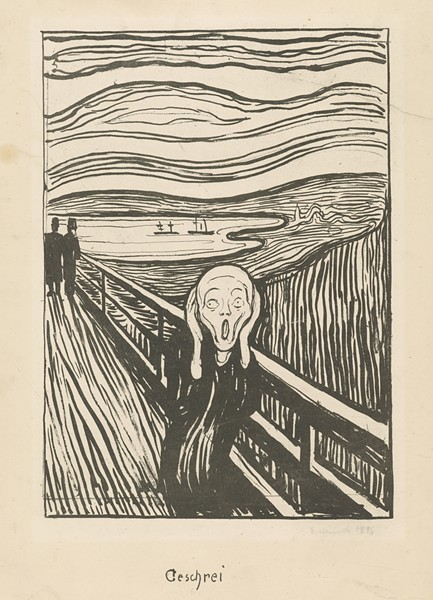"Edvard Munch, ""The Scream,"" 1895."