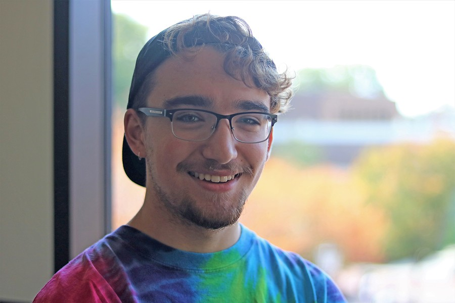 Gerrik Bragg, an English student at VCU - CHARLOTTE RENE WOODS