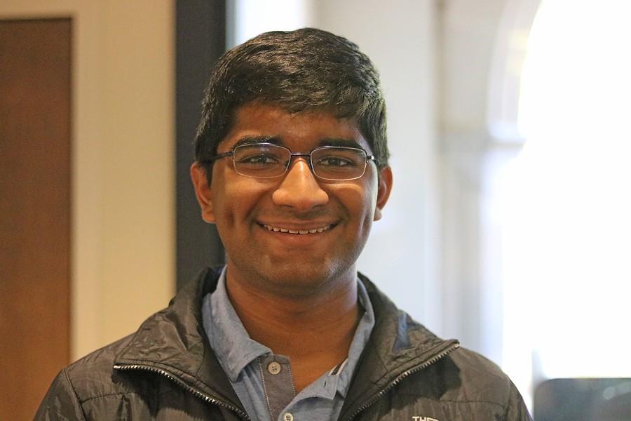Suraj Bala studies biochemistry at University of Richmond. - CHARLOTTE RENE WOODS