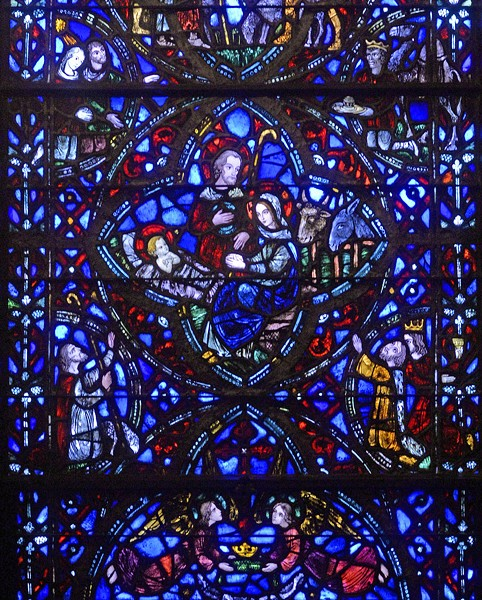 The 1936 window in the chapel of St. Paul's contains smaller glass elements to reflect medieval artistry. - SCOTT ELMQUIST