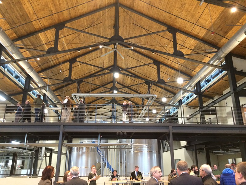 The expansive new Hardywood West Creek in Goochland is spacious, yet warm and inviting. - ANNIE TOBEY