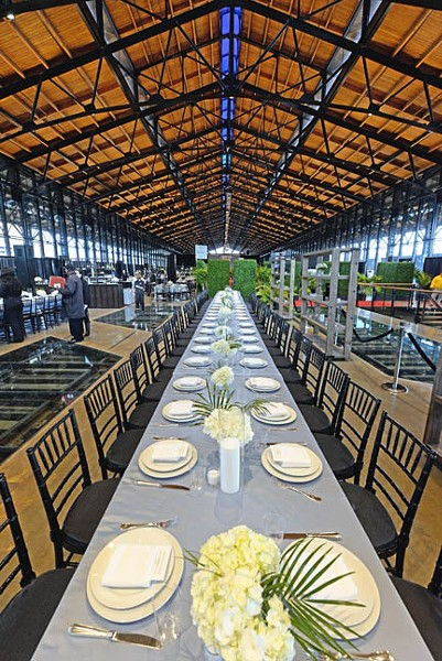 The head house and shed of Main Street Station was set for 1,500 people for dinner Feb. 6. - SCOTT ELMQUIST