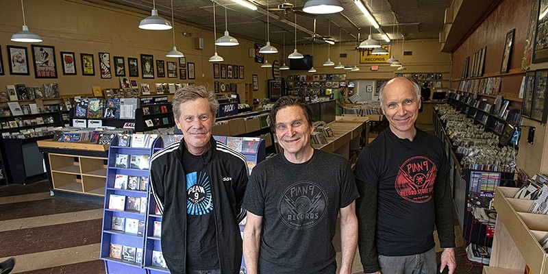 Buyer Bob Schick, owner and co-founder Jim Bland and acquisitions manager Jimmy Blackford have done more than anyone to help make Plan 9 Music a local institution over the past four decades.