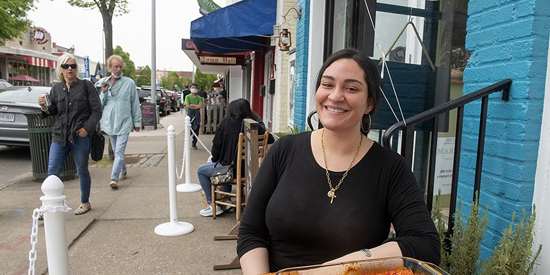 """Angela Petruzzelli (pictured here with her family's lasagna) started her """"rustic, whimsical, southern Italian"""" pasta concept, Sprezza, at Broken Tulip this March."""