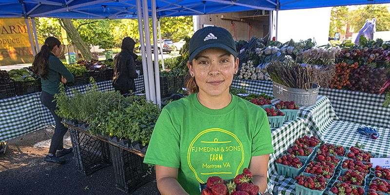Farmer Karla Medina, of F.J. Medina & Sons Farm, has been a mainstay at the Farmers Market @ St. Stephens for years, making the hour-and-a-half trek from Montross, Va.