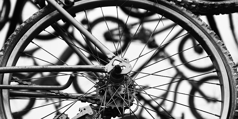 Photos of the Year Detail of a bike sculpture in Lakeside.