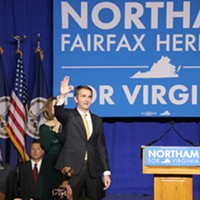 Election Night Ralph Northam greets supporters. Charlotte Rene Woods