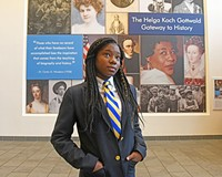 Cristo Rey student Antonae S. does her work study at the Virginia Museum of History & Culture.