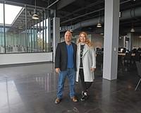 Glavé Kocen Gallery owners B.J. Kocen and Jennifer Glavé.