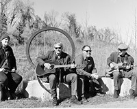 The Silent Boys are John Morand on drums, Wallace Dietz on rhythm guitar and vocals, Michael Click on bass and John Suchocki on lead guitar and keys.