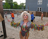 Local drag performer, Chicki Parm, stands outside behind Babe's of Carytown, which this year won Best Gay Bar and Best Club for Dancing.