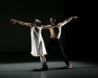 "Dancers Cody Beaton and Trevor Davis perform in Richmond Ballet's ""Alone, Beside Me"" by Ma Cong."