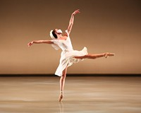 "Sabrina Holland in Richmond Ballet's ""Waltzes Once Forgotten"" by Mate Szentes."
