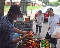 Shalom Farms' mobile distribution market in Creighton Court works to get healthy food out to places that need it.