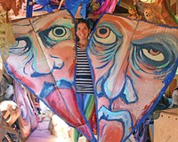Lily Lamberta, founder of All the Saints Theater Company, will be relocating oversized puppets to EarthFolk, an old farmhouse in South Side.