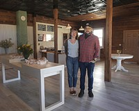 Former Saison employees Sara Kerfoot and husband Adam Hall are now earning fans with their roadside, wood-fired barbecue from an old general store.