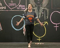 """Marie Lucas rehearses Richmond Triangle Players' """"The Pink Unicorn,"""" which runs from July 30 through Aug. 15 at the Robert B. Moss Theatre."""