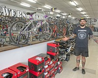 Powers Bike Shop owner Chad Powers.
