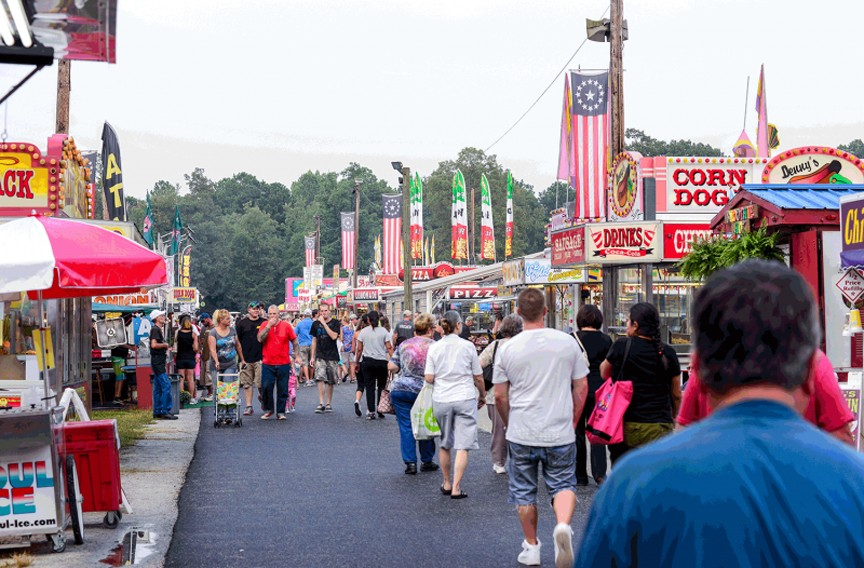 Chesterfield County Fair at the Chesterfield Fairgrounds   Night and