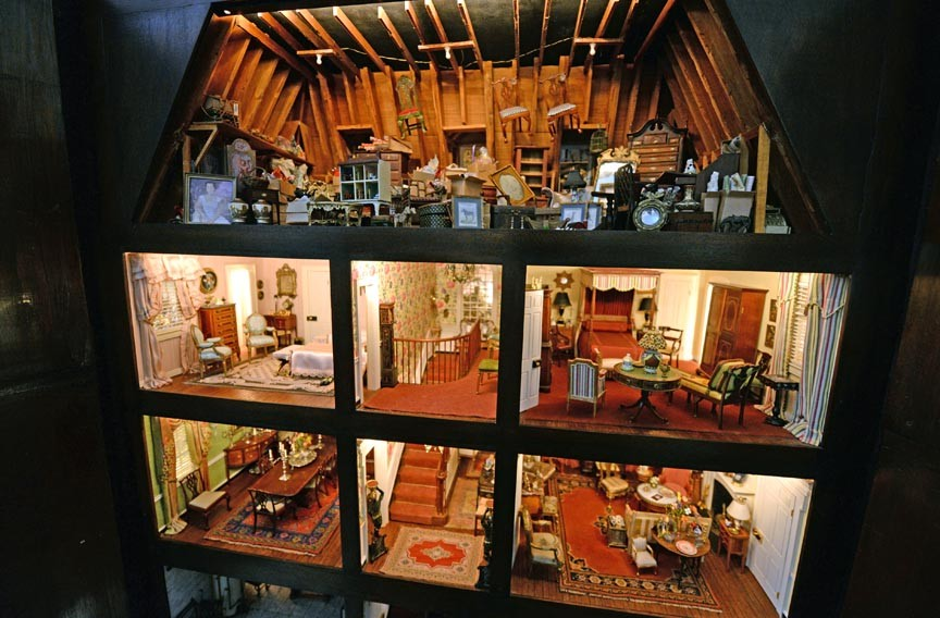 Anne Hines spent four years creating an exact miniature copy of the house. She says that in side-by-side photographs of the home and its copy, some people have been unable to tell which photo is which. - SCOTT ELMQUIST