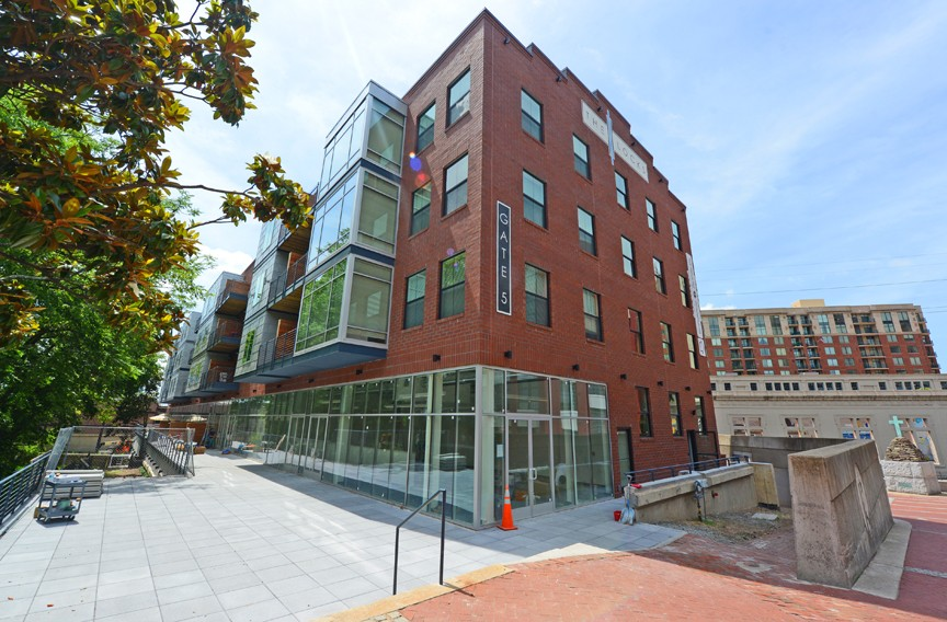 Gate 5 is an apartment building overlooking the James River and Kanawha Canal at South 12th Street. - SCOTT ELMQUIST