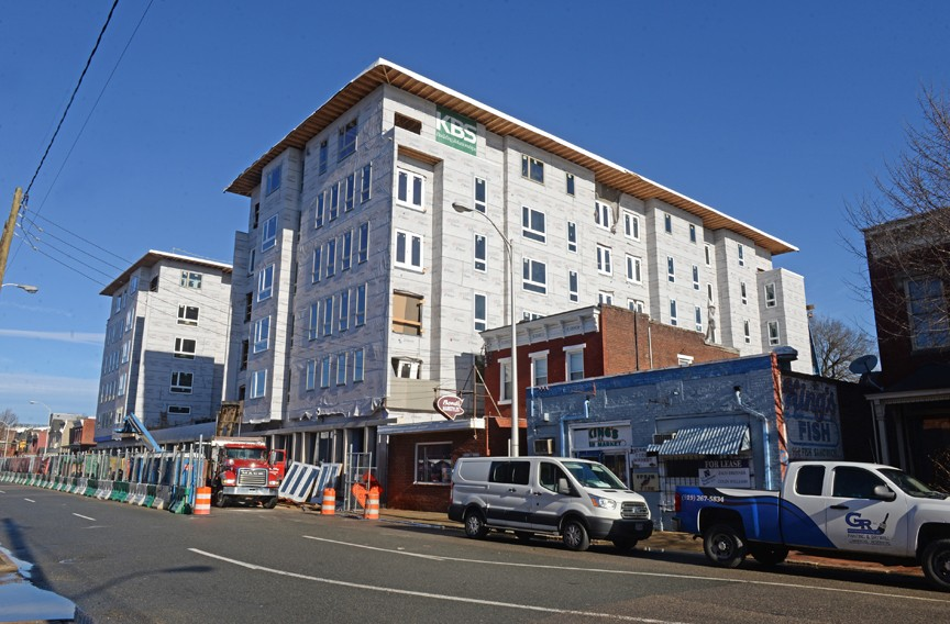 The Penny in Jackson Ward, a 166-unit apartment building is rising at 2 W. Marshall St. - SCOTT ELMQUIST