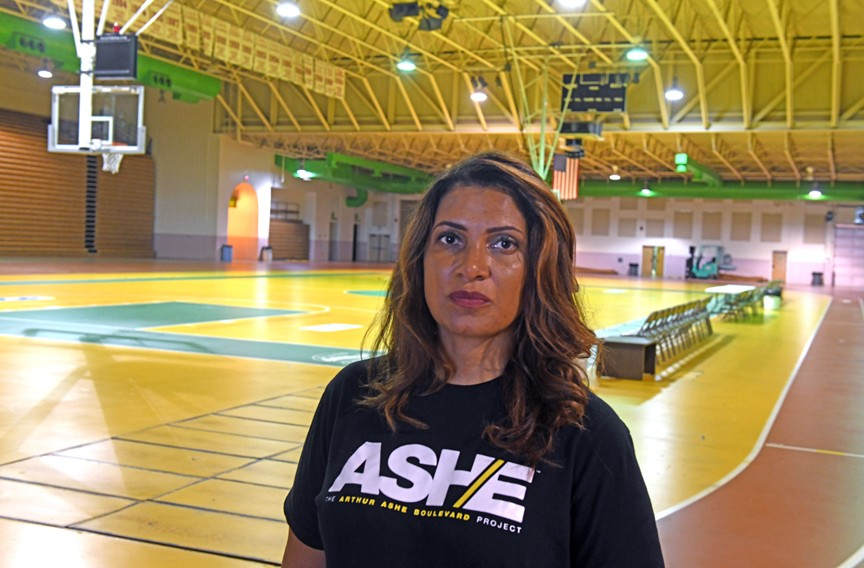 Second District City Councilwoman Kimberly Gray says the Ashe Center needs repairs, and that redevelopment may mean the building's future is in doubt. - SCOTT ELMQUIST