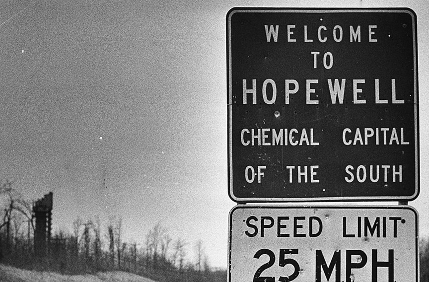 "In the 1970s, Hopewell declares its distinction as the ""chemical capital of the south."" - DAILY PRESS ARCHIVE"