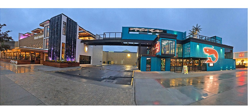 A bridge connects two of the family's restaurants, Casa del Barco and Island Shrimp Co., at Chesterfield Towne Center. - SCOTT ELMQUIST