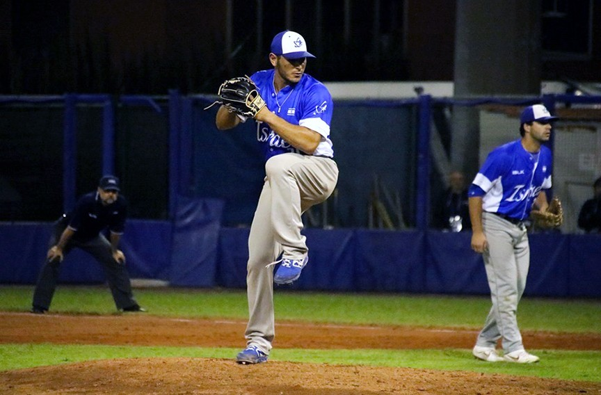 Jonathan de Marte is among several Americans pitching for Israel at the summer Olympics. - COURTESY JONATHAN DE MARTE