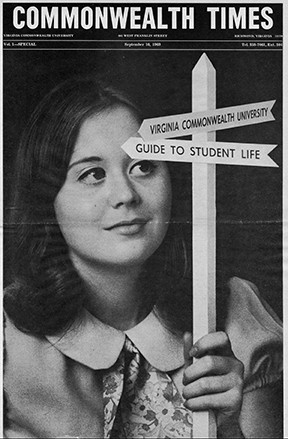 The Commonwealth Times' first issue, dated Sept. 10, 1969, had much in common with Proscript, its predecessor.