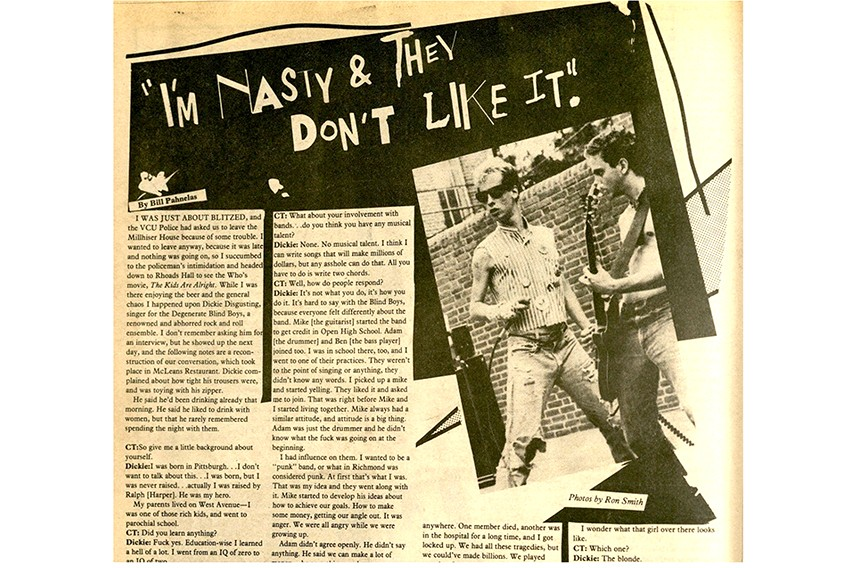 Bill Pahnelas' 1980 interview with rocker Dickie Disgusting nearly led to the defunding of the student newspaper.