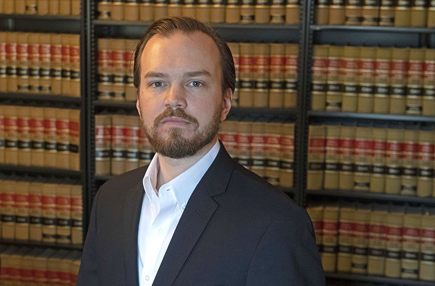 Justin Griffin, a lawyer, was a leading voice against the Navy Hill development. - SCOTT ELMQUIST
