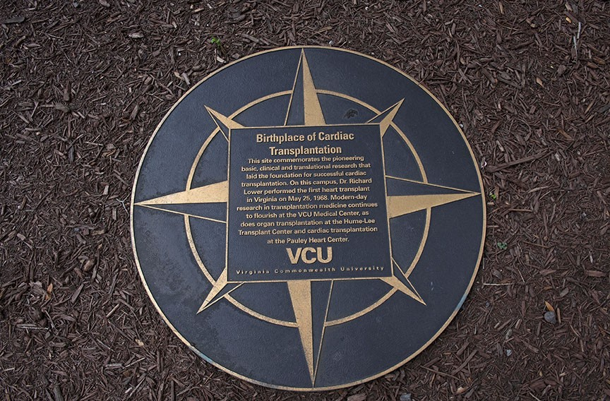 VCU celebrates its success with this marker but offers an apology on its website for not informing Bruce Tucker's family. - SCOTT ELMQUIST