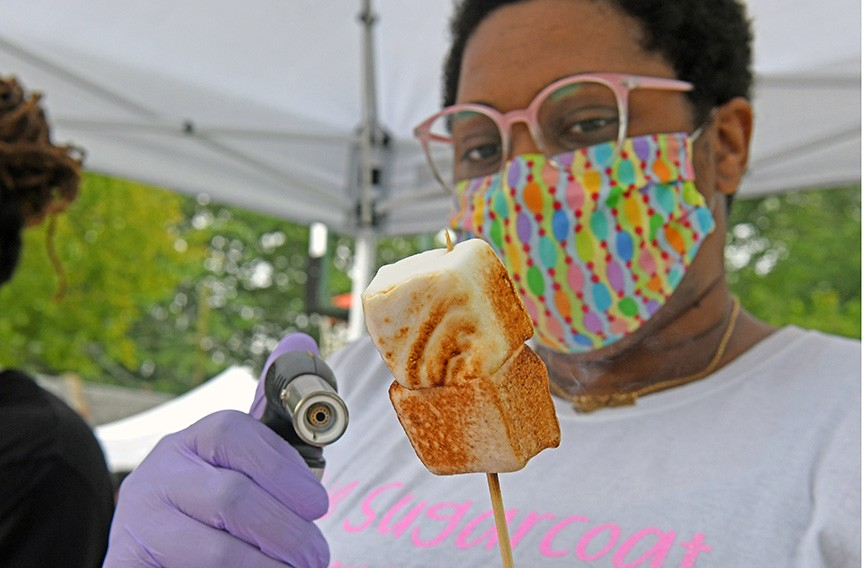 Andréa Johnson owns Karmalita's Marshmallows and Confections. - SCOTT ELMQUIST