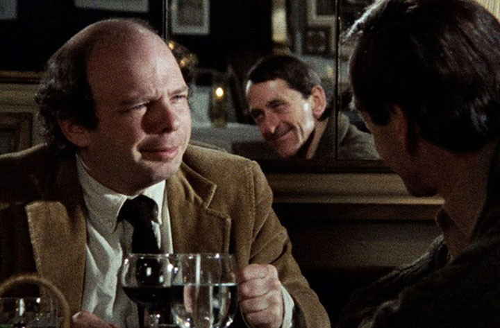Shawn, at left, and Gregory in a still from their film. The dining scene that comprises most of the action, although filmed at the Jefferson Hotel, depicts the Cafe des Artistes, a now-closed, elegant restaurant on West 67th Street in Manhattan.