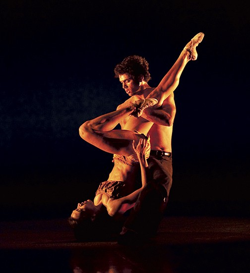 """Maggie Small and Fernando Sabino in """"Vestiges"""" by Colin Conner, part of the Richmond Ballet's Studio One series, Sept. 14-23. - AARON SUTTON"""