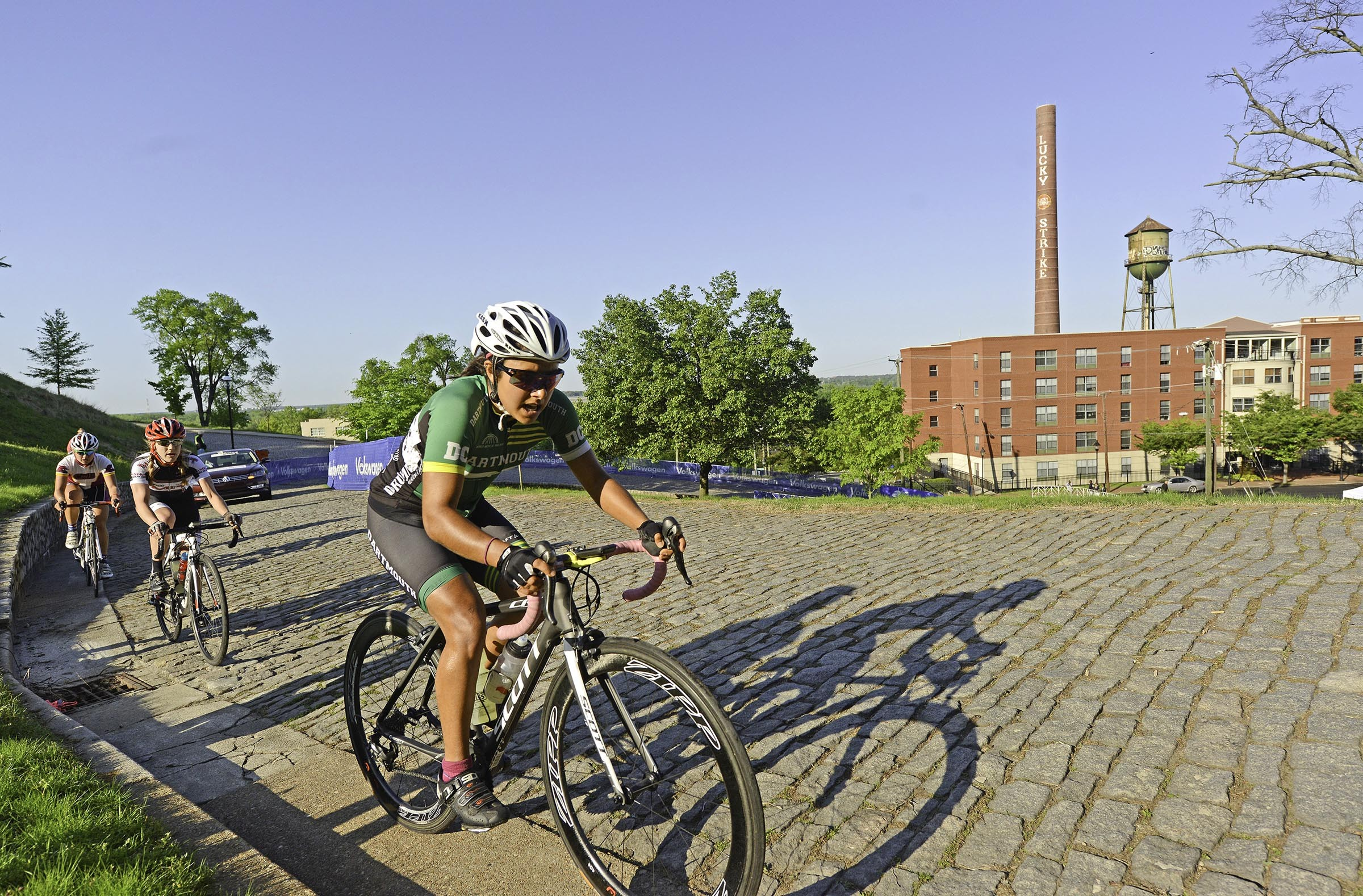 Cyclists mount Libby Hill via a cobblestone roadway during last year's CapTech races. The East End will again be among the venues of the September races.