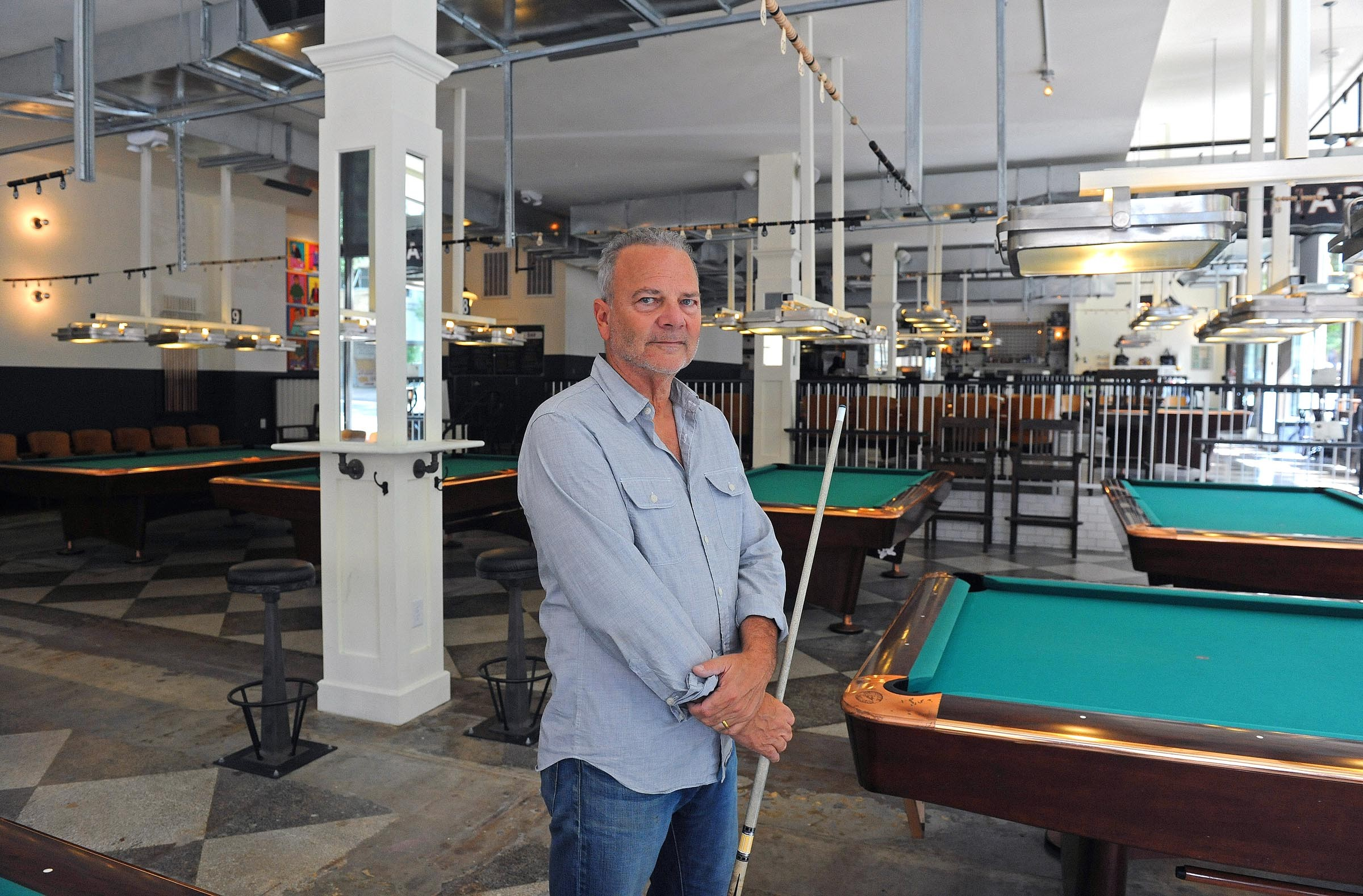 Click To Enlarge Jim Gottier, Owner Of Greenleafu0027s Pool Room In Downtown  Richmond, Calls Straight Pool The