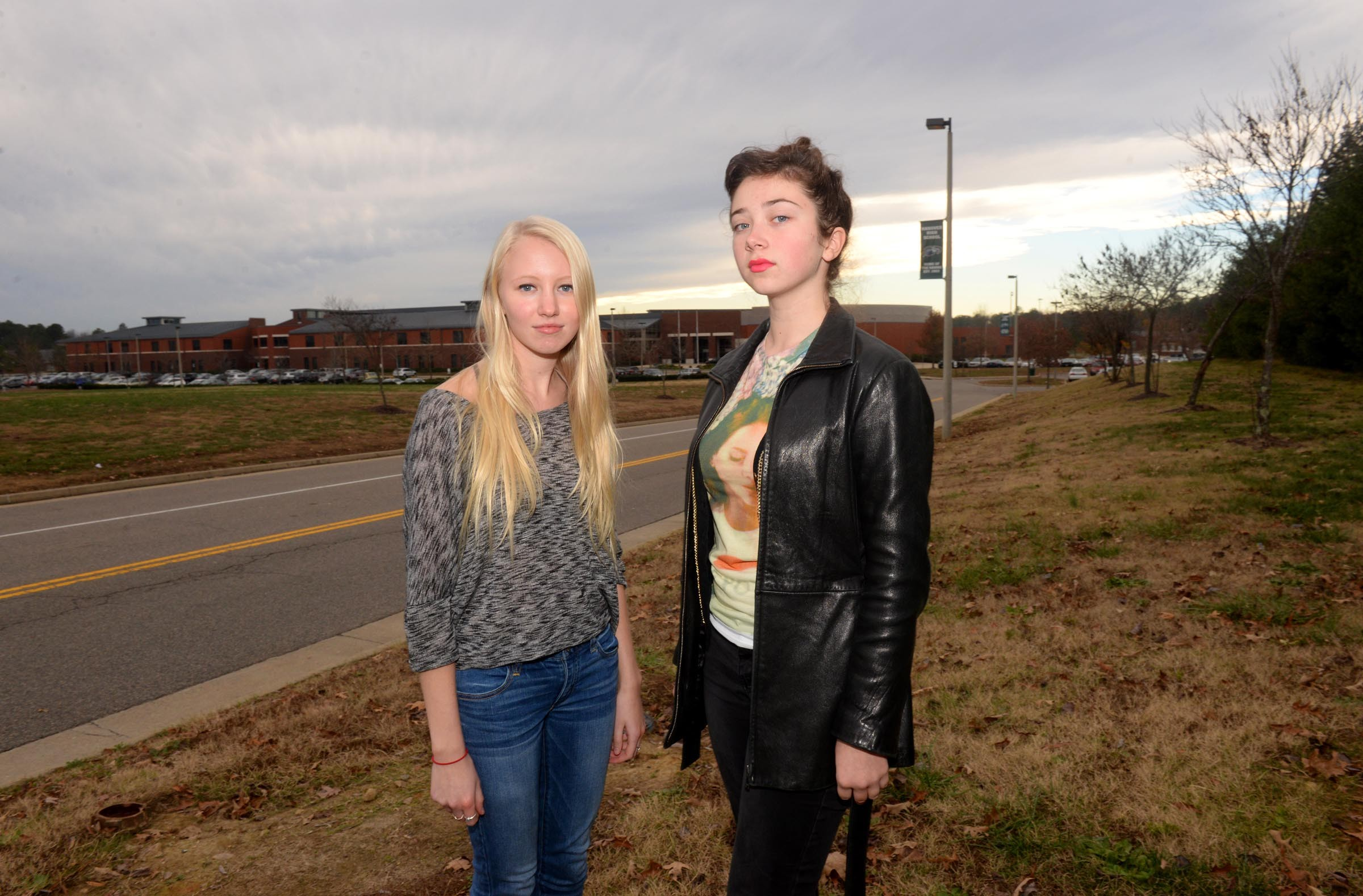 click to enlarge Hanover High students Stephanie Mayle and Georgia Geen are  part of a group that wants the