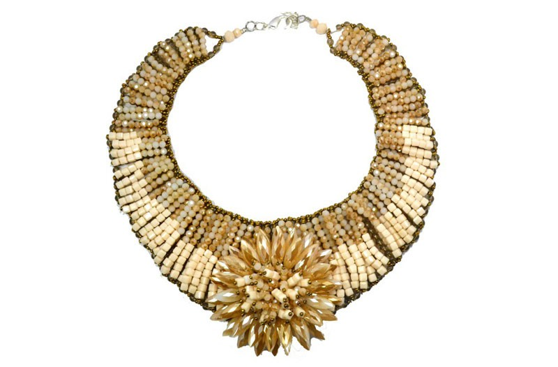 Valerie Sanson's Ivory Coast Sunflower Collar ($230) from the VMFA gift shop.