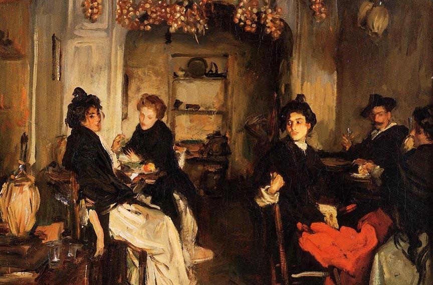 "John Singer Sargent (1856-1925), ""Venetian Tavern."" - VMFA"