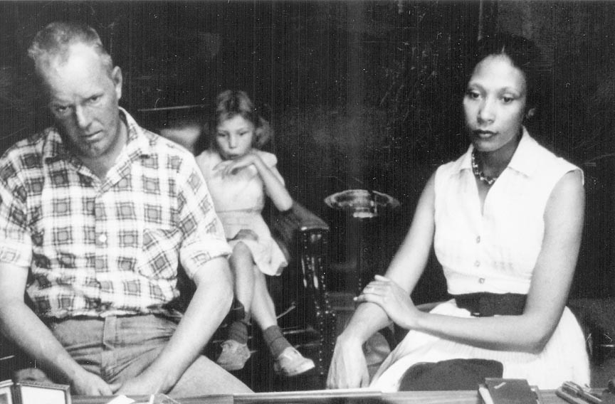 Richard and Mildred Loving with their daughter Peggy in 1965, six years after the couple's conviction and banishment from Virginia. - GREW VILLET/IMFPIX