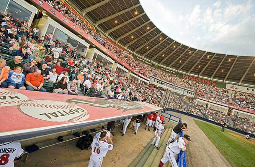 Squirrels fans pack The Diamond during a sunny game day. The team's future on the Boulevard is in question, with its lease ending in 2017 and Jones pushing a development plan for the area that may not include baseball. - ASH DANIEL