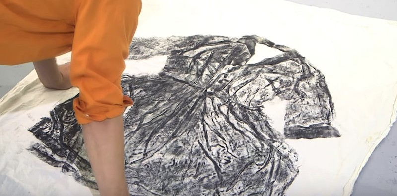 The project will create the world's largest collagraph print using donated clothes that represent a person who has battled cancer.