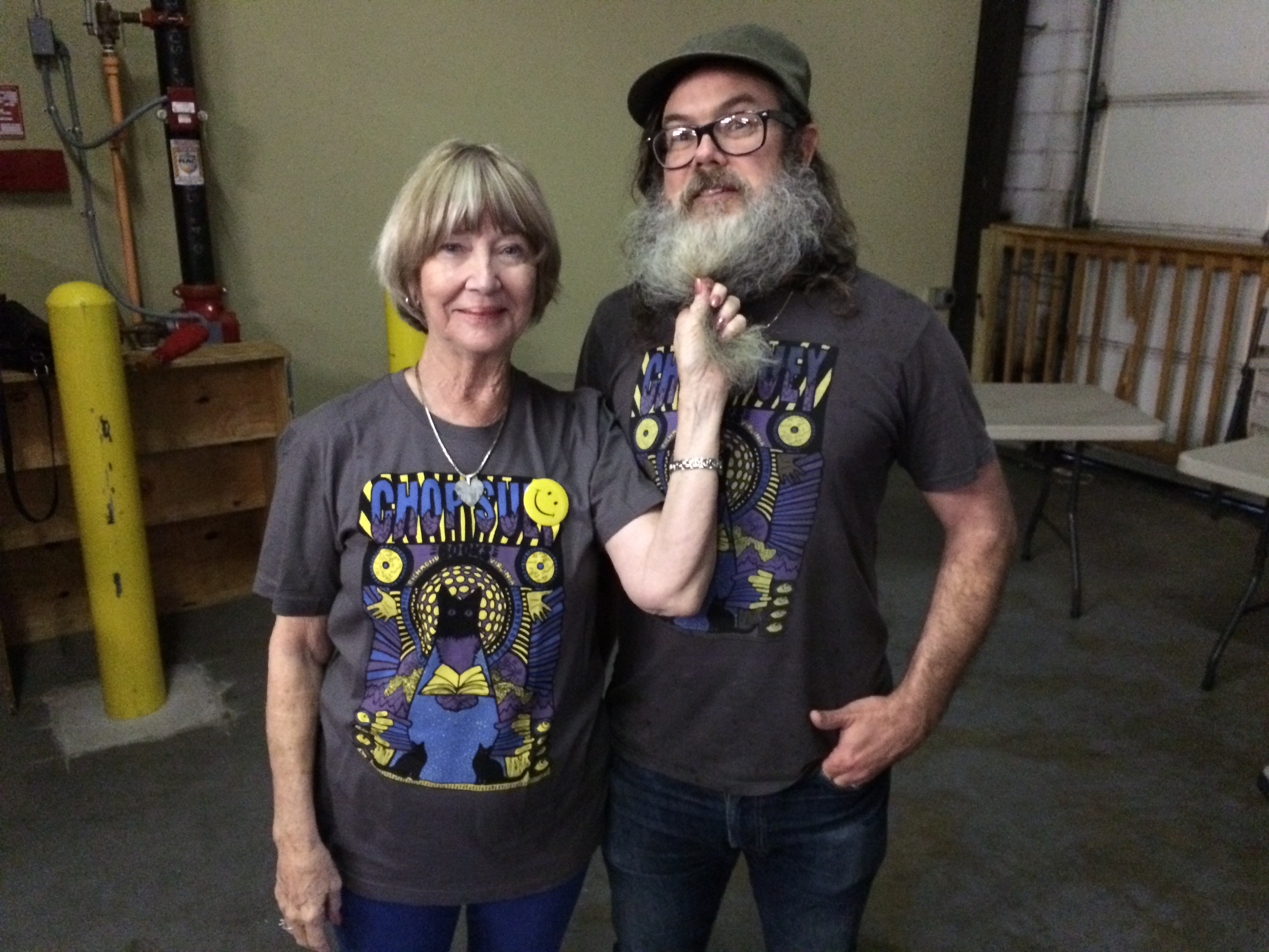 """Actress Charlotte Stewart, who you may remember from """"Eraserhead"""" and """"Twin Peaks"""" alongside Great Southern supporter Ward Tefft of Chop Suey Books."""